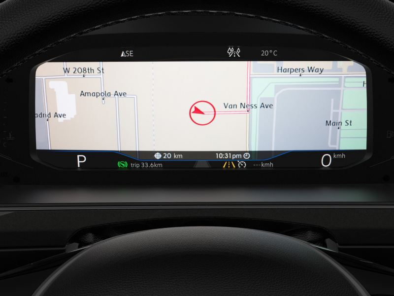 Digital cockpit of the Tiguan