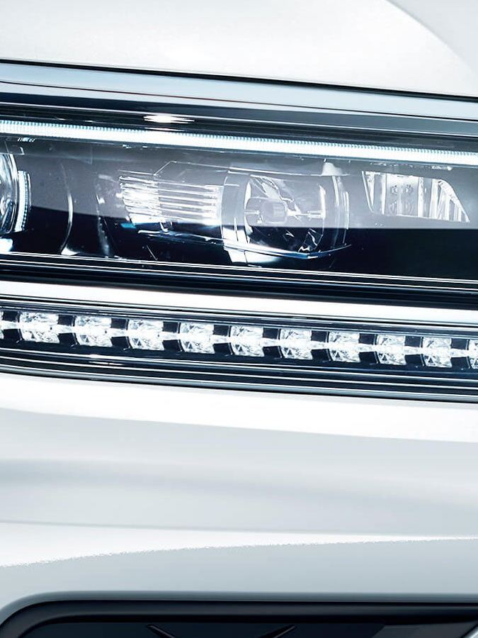 LED headlights on the Tiguan