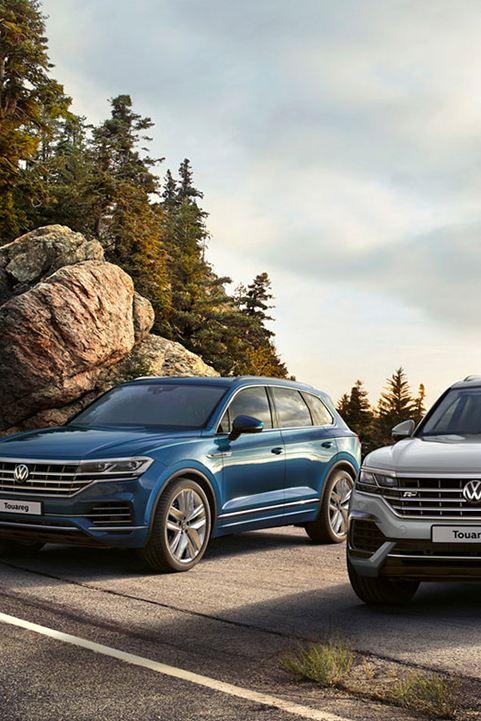 VW Touareg mountain views