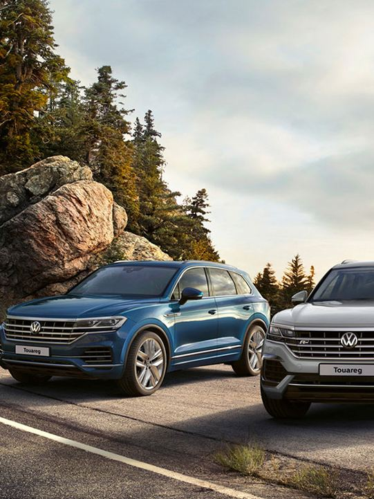 VW Touareg mountain views