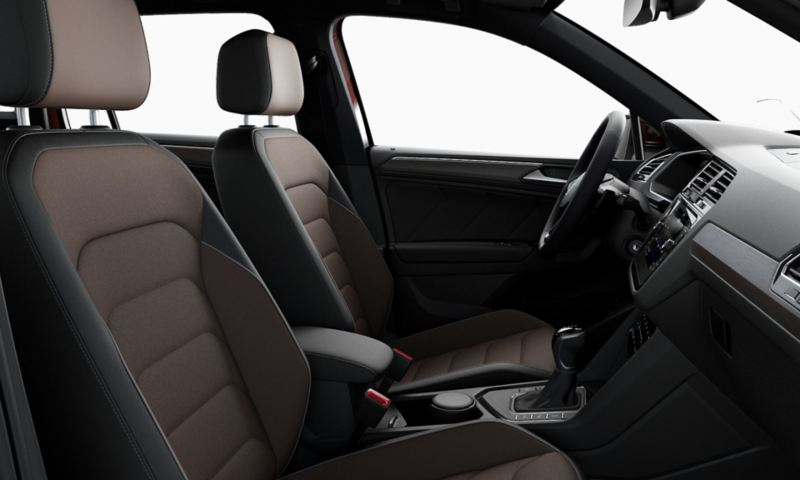 VW Tiguan interior with First Edition equipment