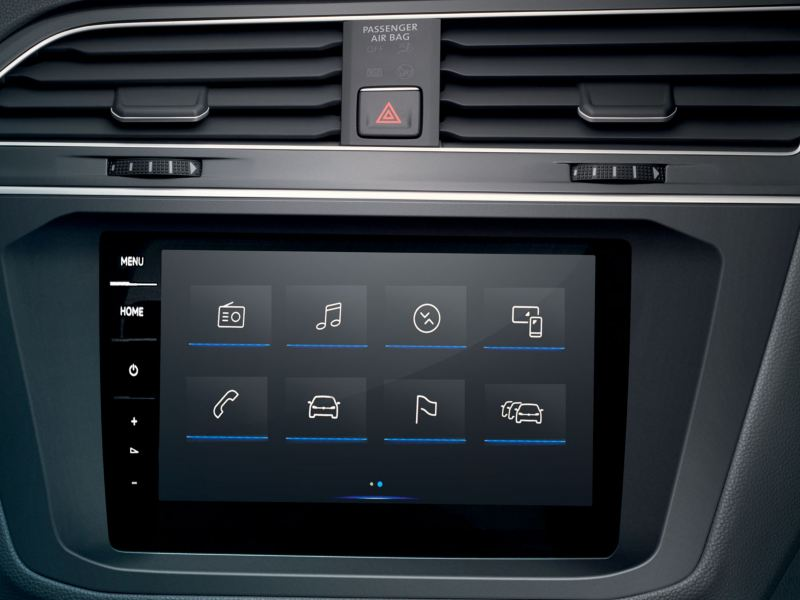 vw interior interactive screen