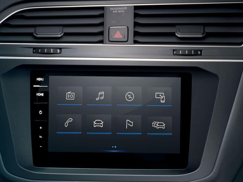 vw interior interactive screen