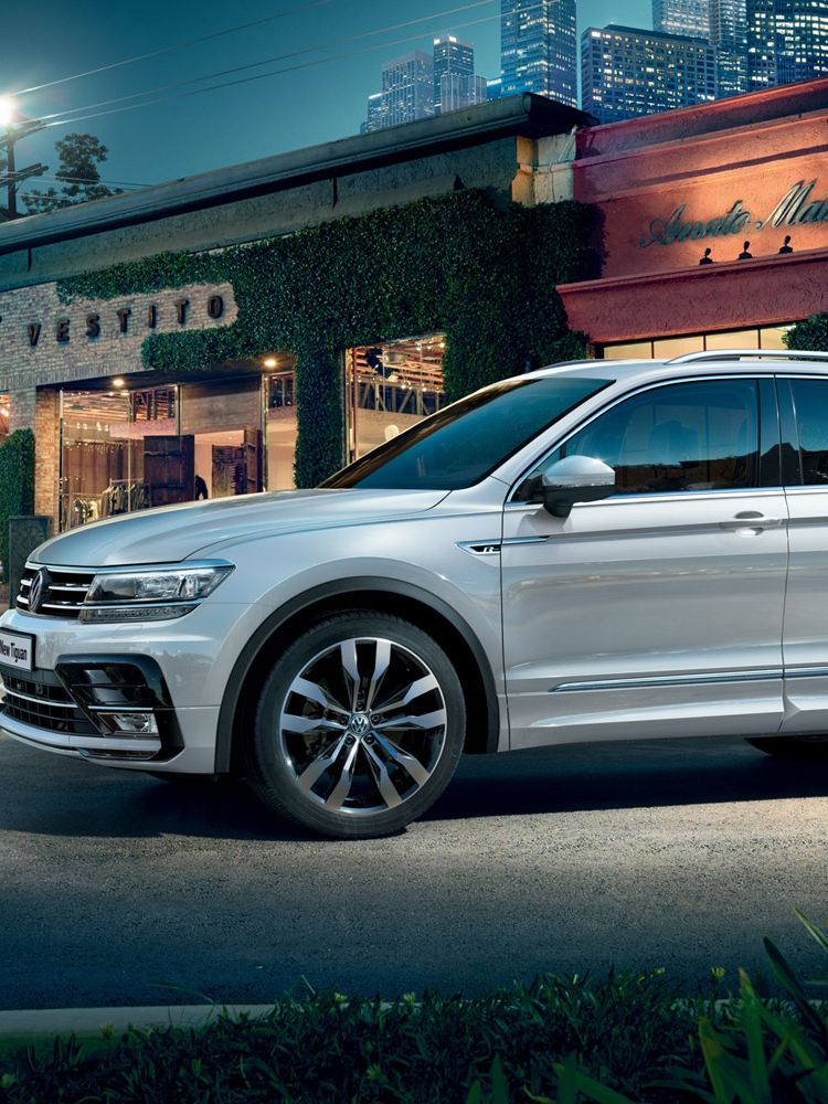 vw tiguan left hand side exterior view