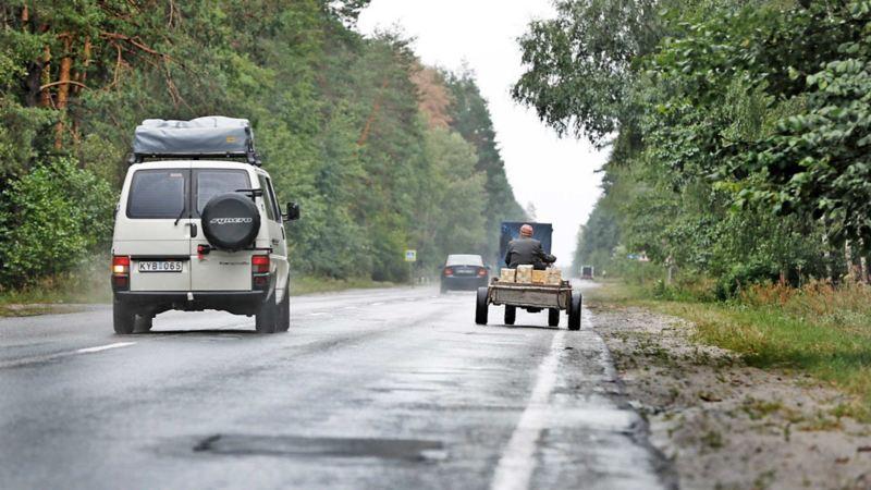 Caravelle Syncro på väg till Tjernobyl