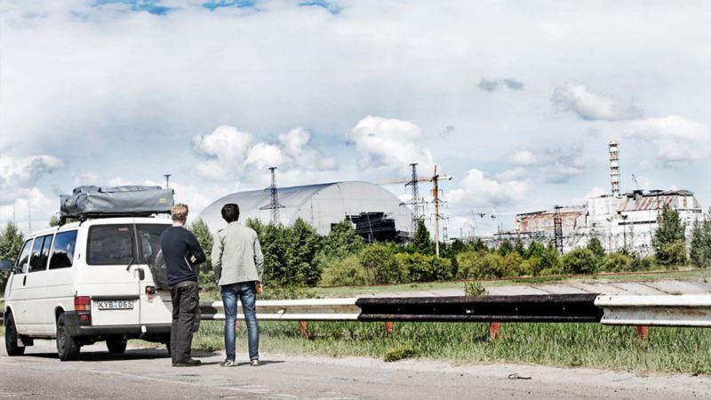 Vy över Tjernobyl
