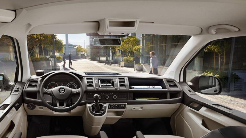 isofix varebil vw Volkswagen interiør Transporter T6 arbeidsbil firmabil leasing unormal slitasje privatleasing