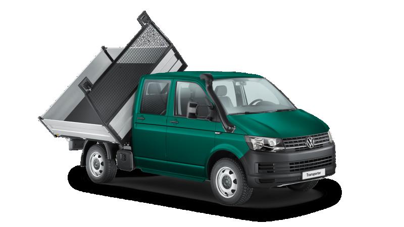 Zabudowa Volkswagen Transporter skrzynia/wywrotka na podwoziu.