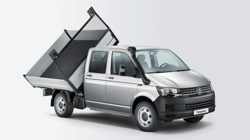 Transporter 3-zijdenkippe3 wit 3/4 grijs achtergrond