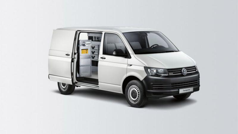 Volkswagen Transporter z zabudową pogotowie techniczne.