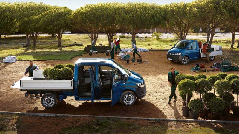 VW Volkswagen Transporter pickup lasteplan anleggsgartner påbygg