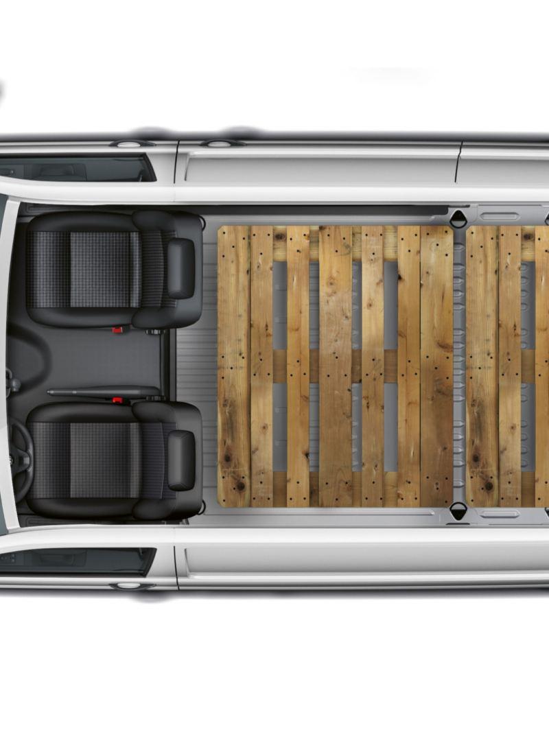 VW Transporter Skåps lastutrymme ovanifrån