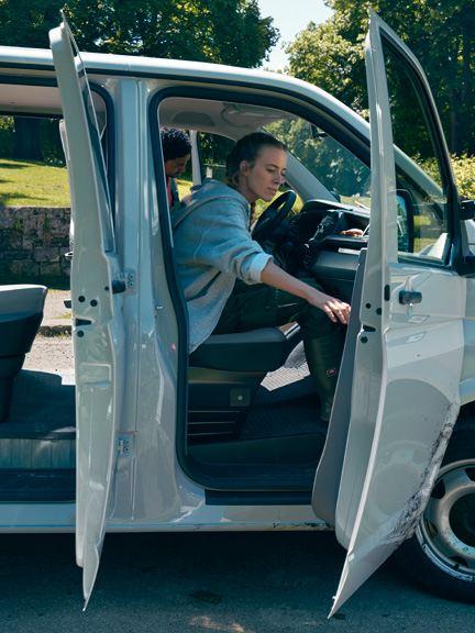 vw Volkswagen Transporter pickup enkelkabin dobbeltkabin doka anleggsgartner trær hage lasteplan