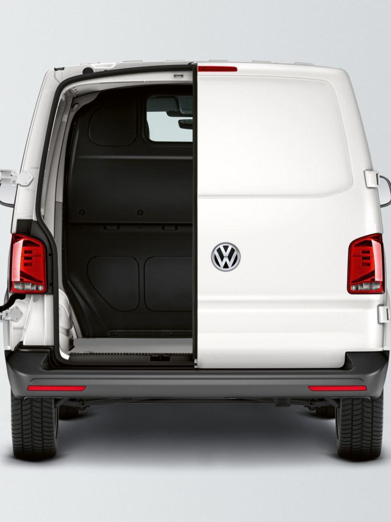 Bakdörrar i en VW Transporter Skåp