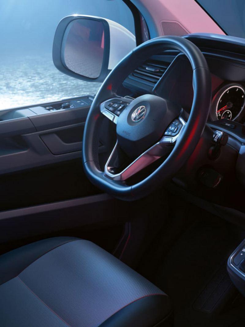 Interiör i VW Transporter