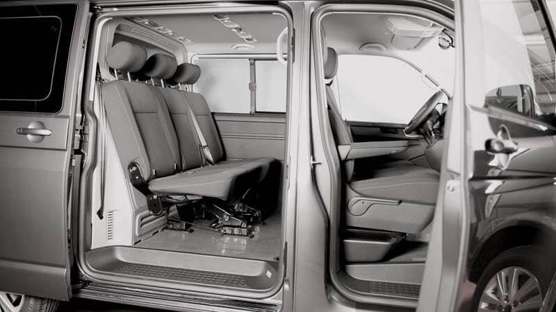 Caravelle Dubbele cabine Highline kort of lang met twee schuifdeuren