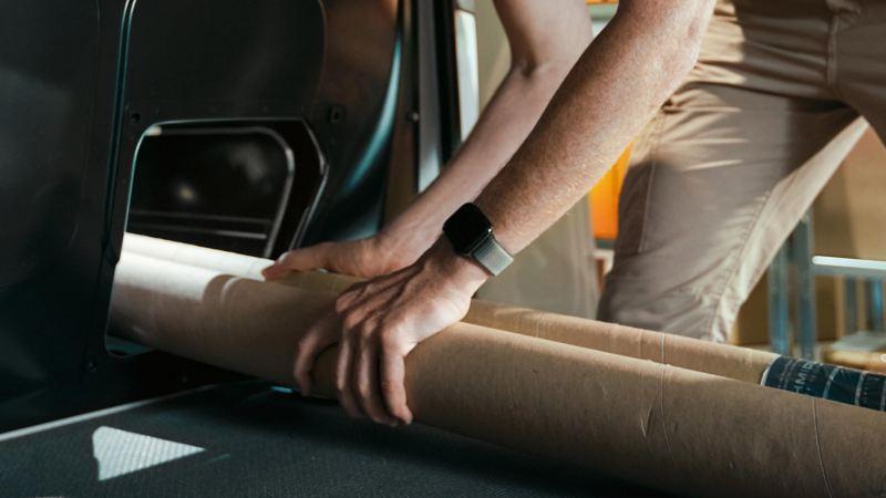 Transporta objetos largos en tu T6.1 Cargo Van