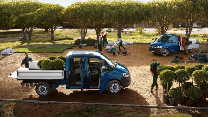 Camioneta para jardinería