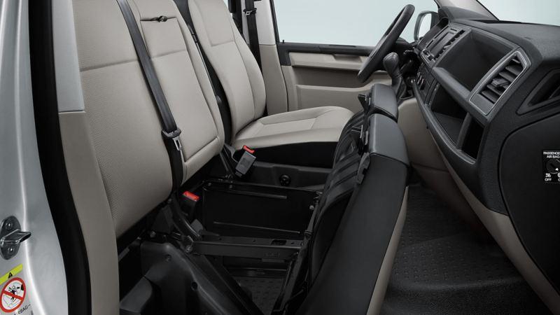 Compartimento debajo de los asientos Transporter Pasajeros