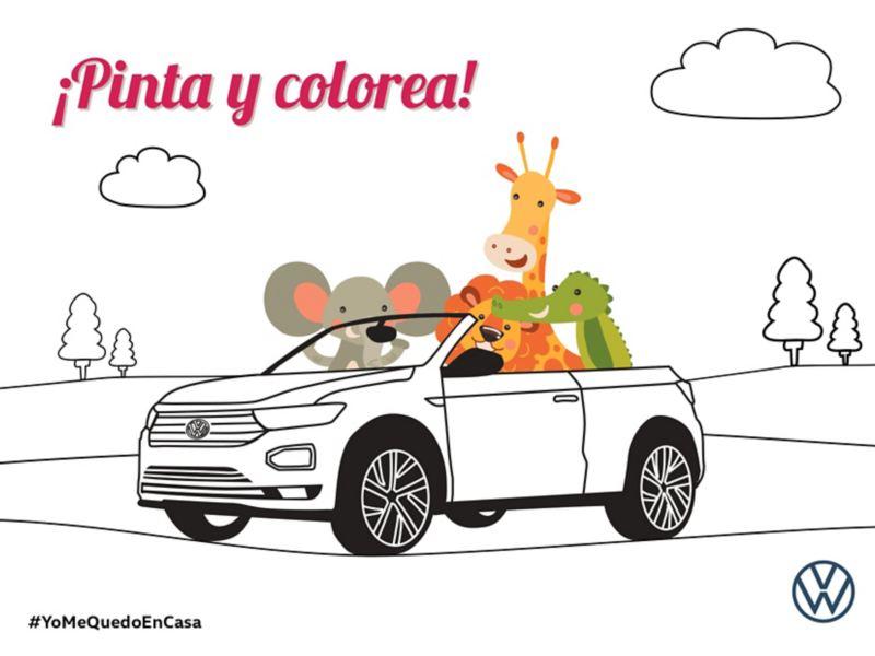 Colorea tu troc cabrio VW Canarias