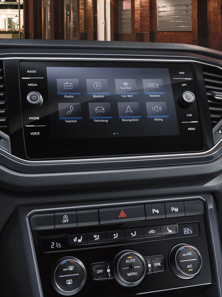 Detalle de la pantalla App-Connect del Volkswagen T-Rock