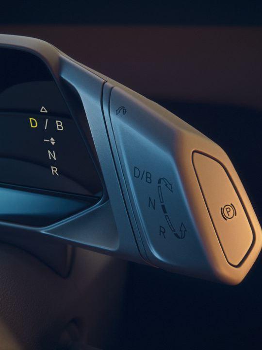 Detalle de la palanca de control de un Nuevo Volkswagen ID.3