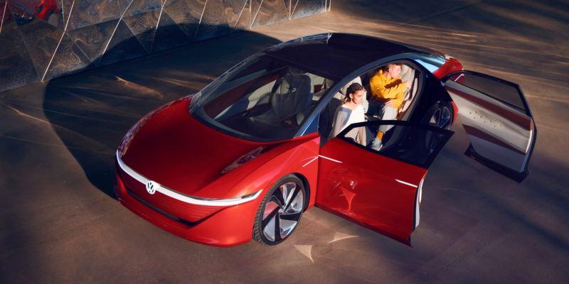 Volkswagen ID. Crozz visto desde arriba con las puertas abiertas
