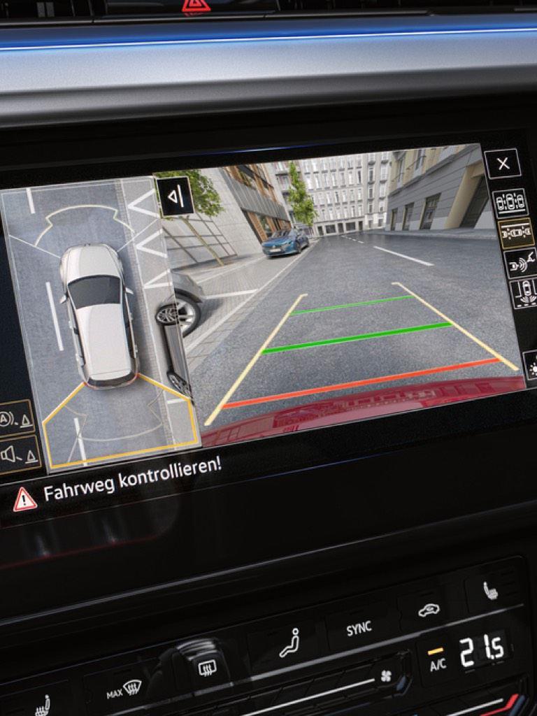 Detalle del panel de visión 360º de un Nuevo Volkswagen Arteon