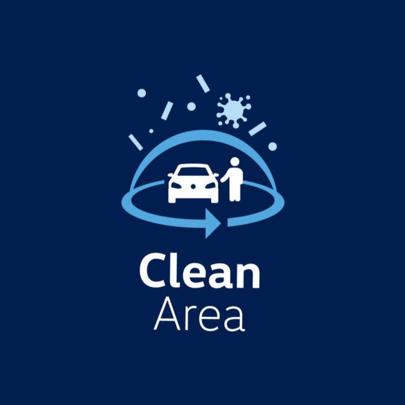 Logotipo de Clean Area de Volkswagen