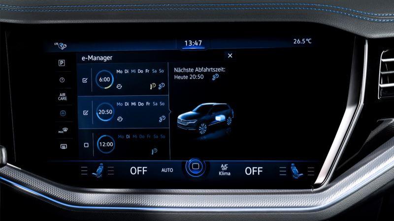 Pantalla del sistema de navegación Discover Premium del Volkswagen Touareg R