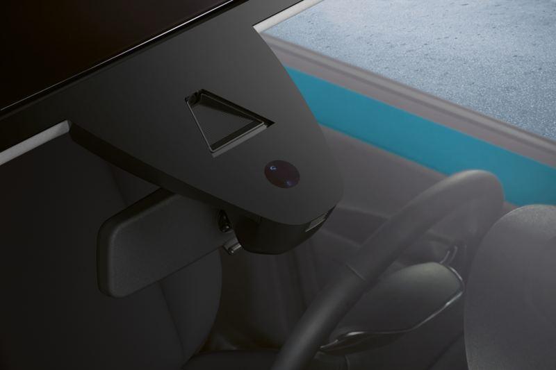 Visualizzazione del sensore pioggia nel parabrezza di VW up!