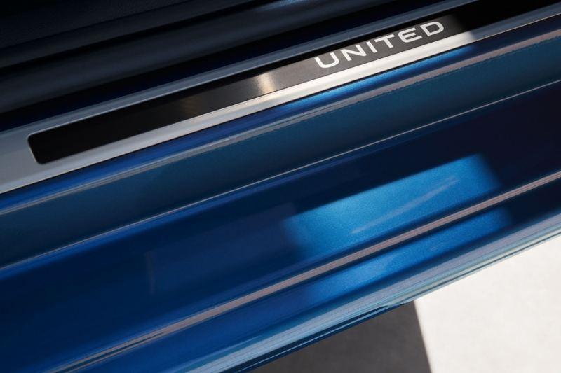 UNITED lettering in aluminium