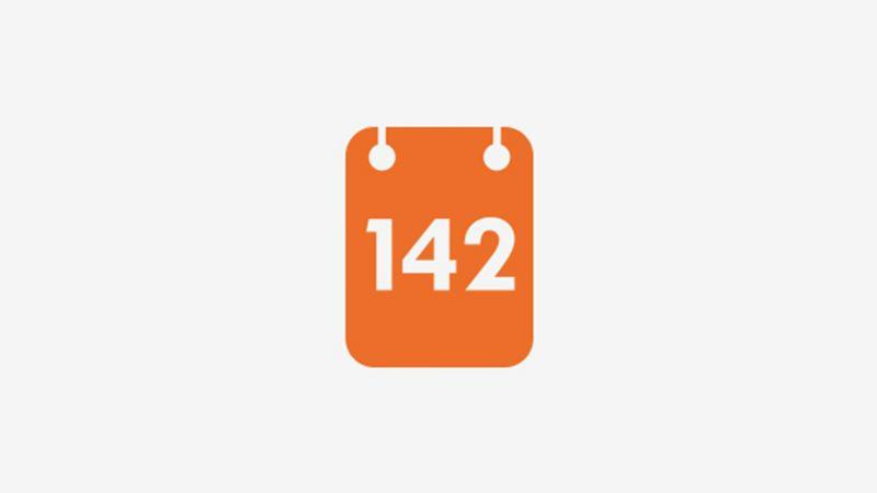 142 on calendar