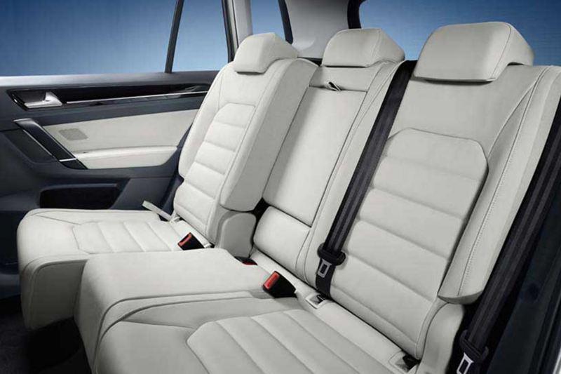 Interior shot of a Volkswagen Golf rear passenger seats.