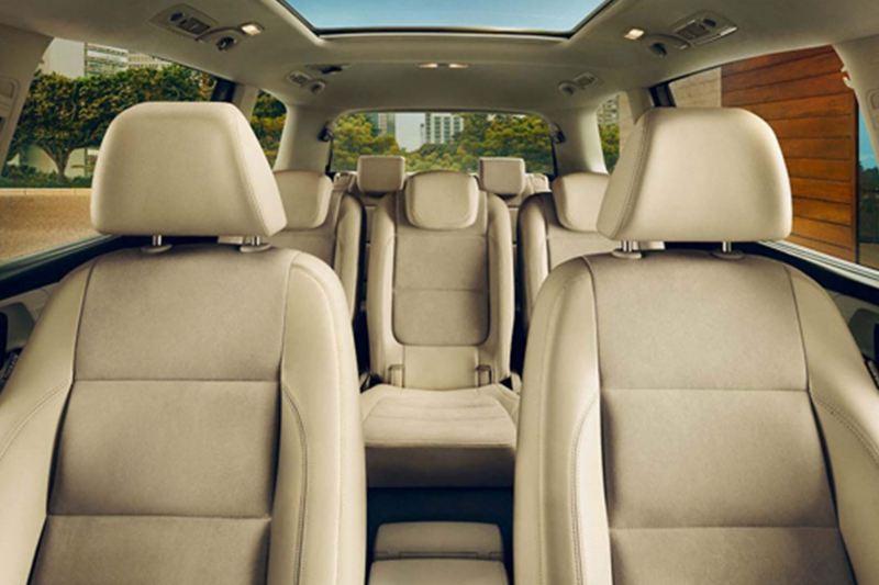 Interior seat shot of a Volkswagen Sharan.