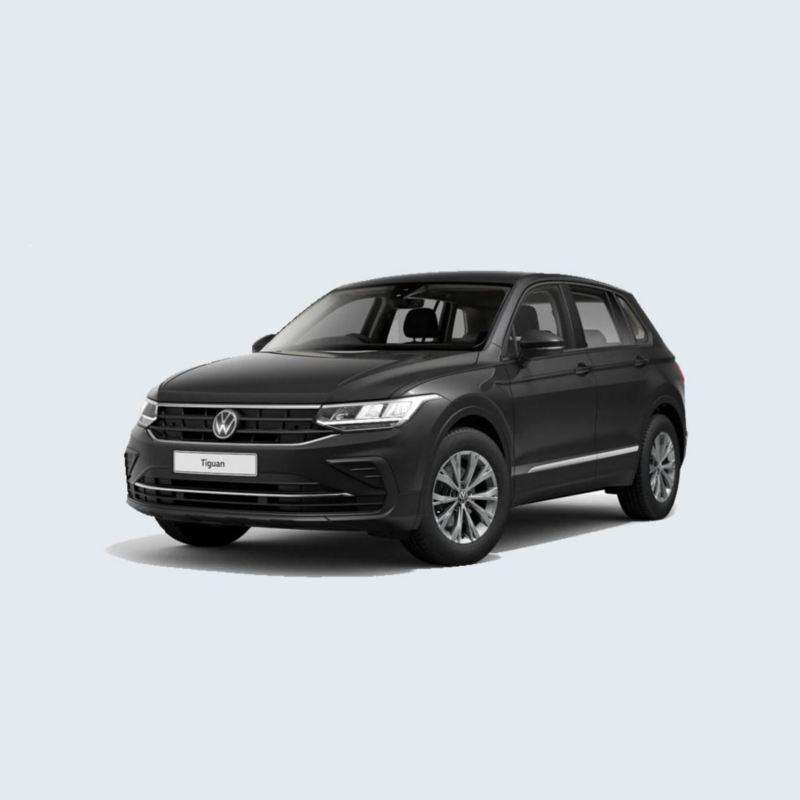 A black Volkswagen Tiguan.