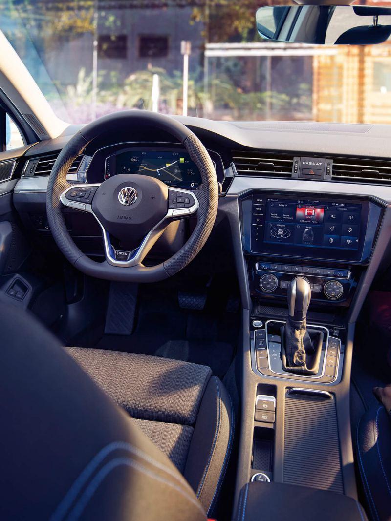 The interior of a Volkswagen Passat