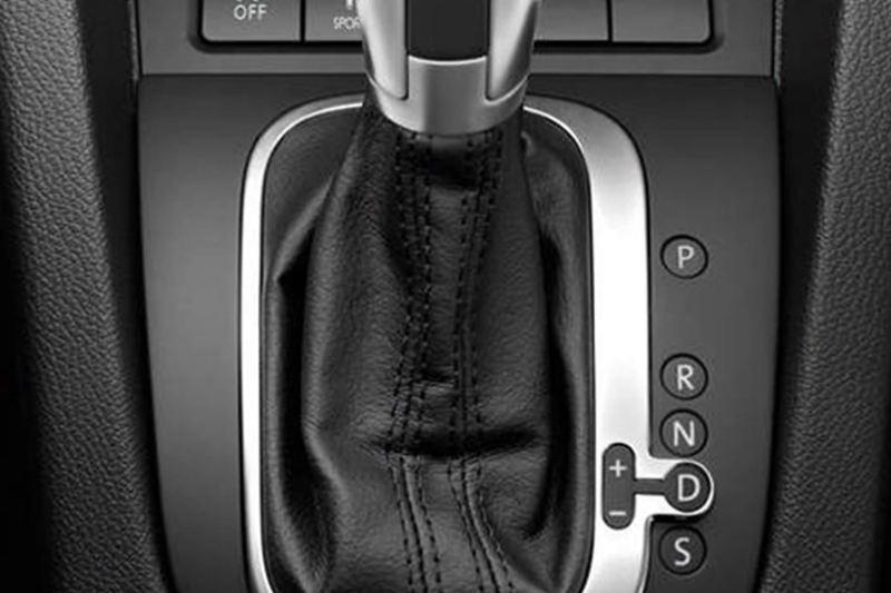 Gear stick shot of a Volkswagen Scirocco.