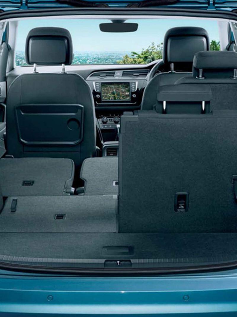 Interior through-boot shot of a Volkswagen Touran.