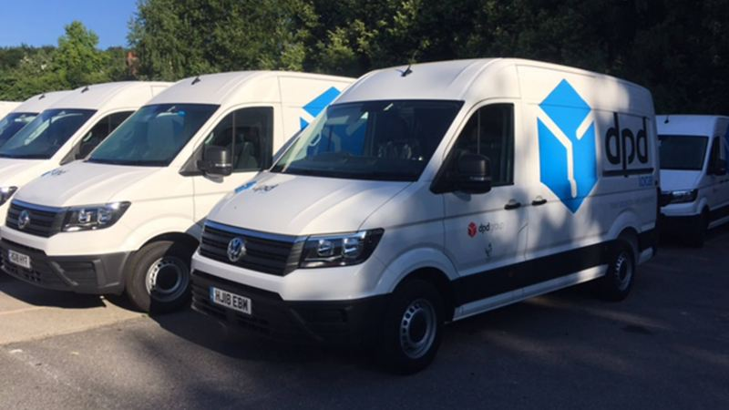 A Fleet of Volkswagen Commercial Vehicles for the DPD delivery services