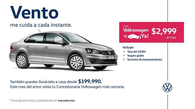 Vento 2020 el auto sedán a precio de remate en ofertas de febrero de Volkswagen México