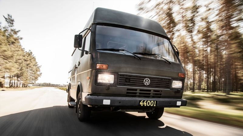 Volkswagen LT31 in action.
