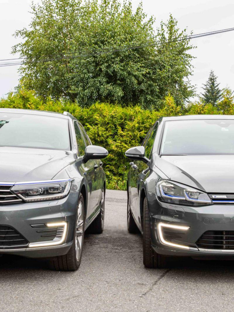 Volkswagen e-Golf elbil og Passat GTE ladbar hybrid med lakkbeskyttelse