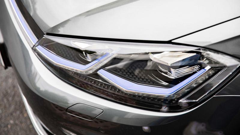 LED frontlykter på Volkswagen e-Golf elbil