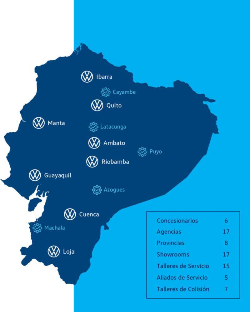 Volkswagen 4 Business - Mapa de red de concesionarios