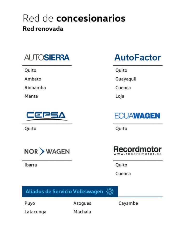Volkswagen 4 Business - Red de concesionarios