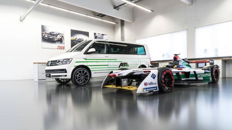 Volkswagen Transporter ombyggd till elbil av ABT