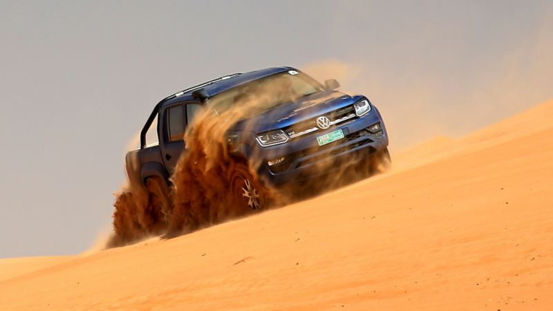 Mer kraft i Amarok: Med max 272 hästar under huven i öknen i Oman