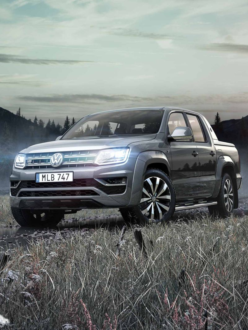 VW Amarok pickup i vildmarken