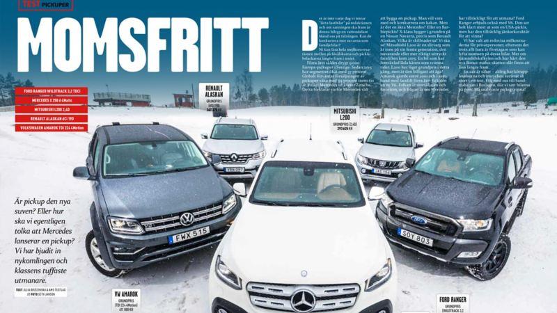 Volkswagen Amarok testvinnare i Auto Motor & sport